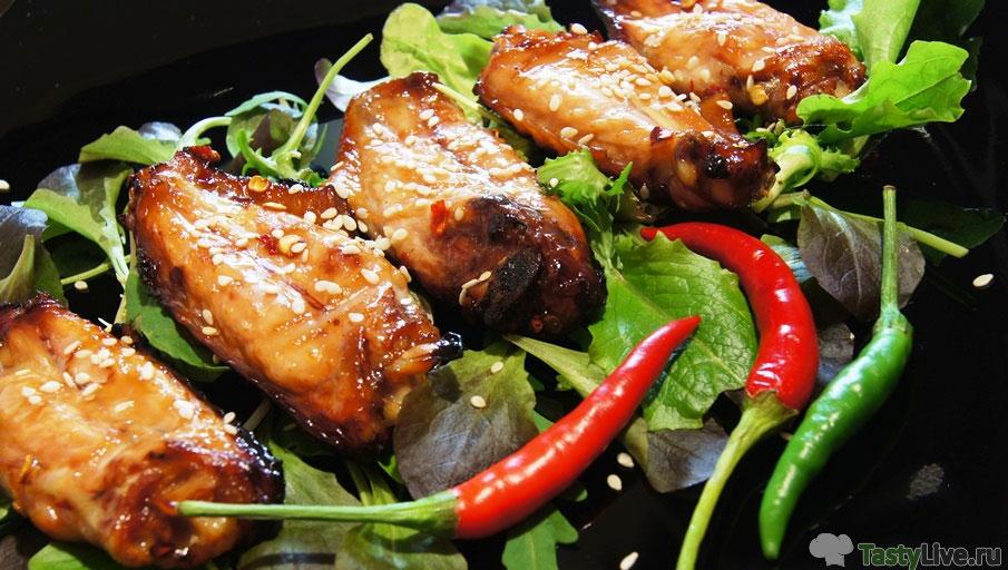 Куриные крылья в соевом соусе с медом рецепт