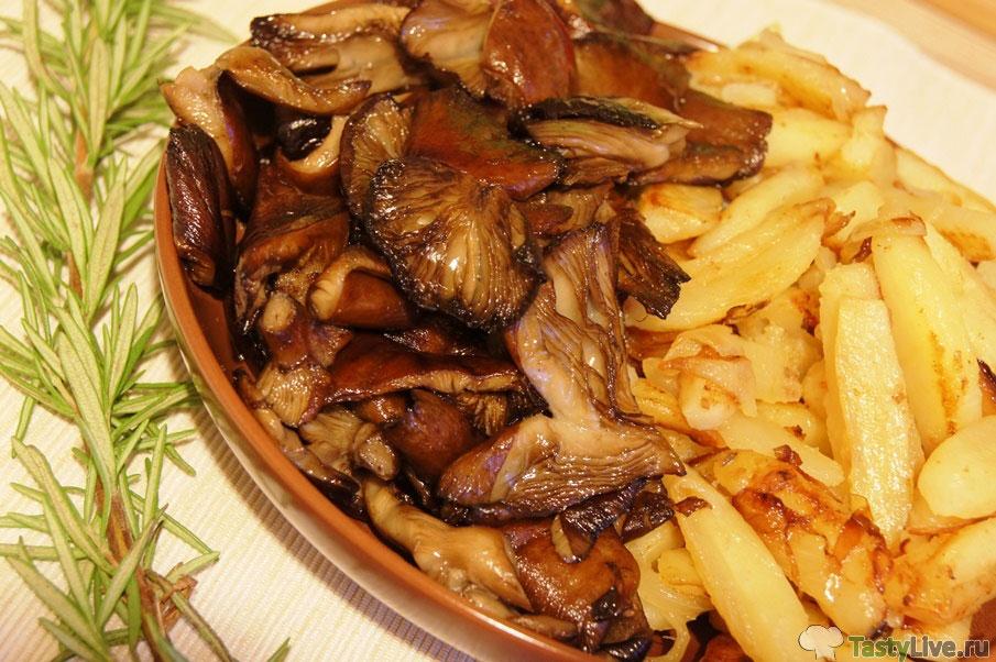 картошка с грибами жареная