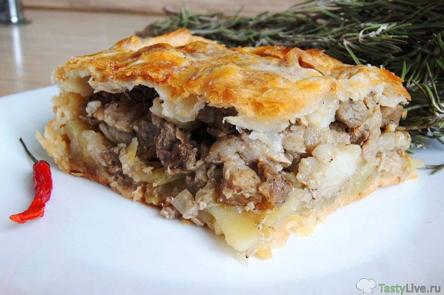 мясной пирог с фаршем и картошкой рецепт с фото