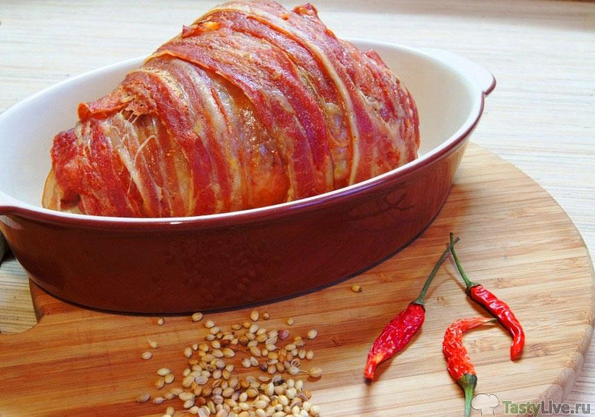 рецепт голени индейки в духовке в пакете
