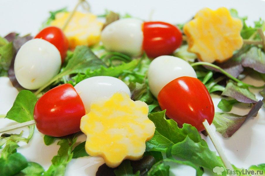 Канапе с перепелиным яйцом рецепты с фото