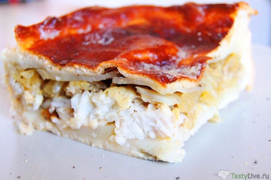 пирог с рыбой рецепт