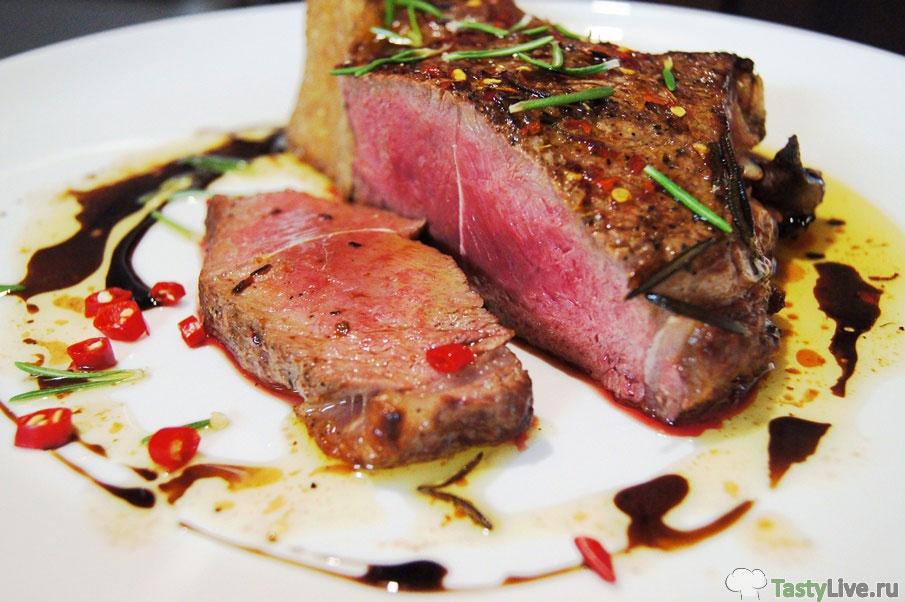 приготовления стейка из говядины видео рецепт