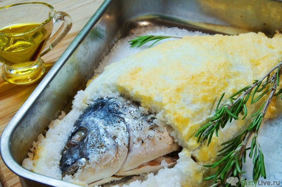 Дорада в соли в духовке рецепт