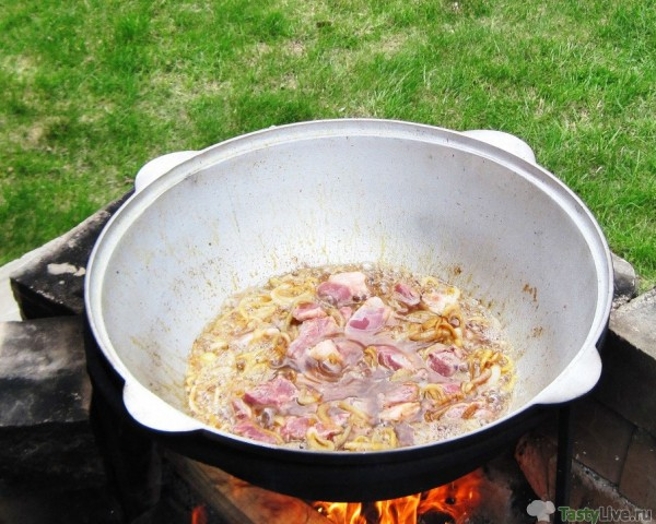 Плов из баранины в сковороде рецепт пошаговый с