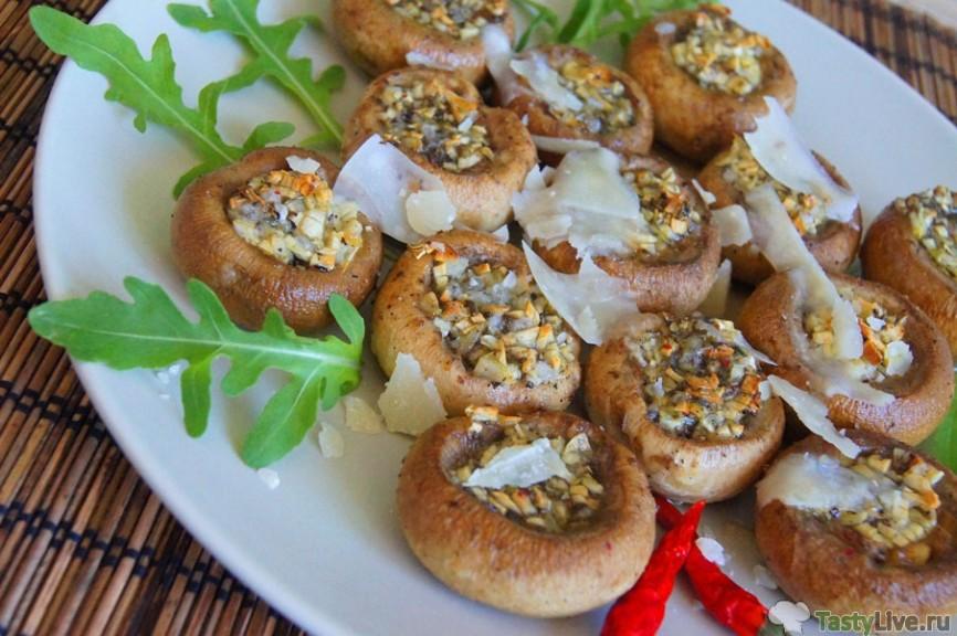 Рецепт быстрой закуски из шампиньонов