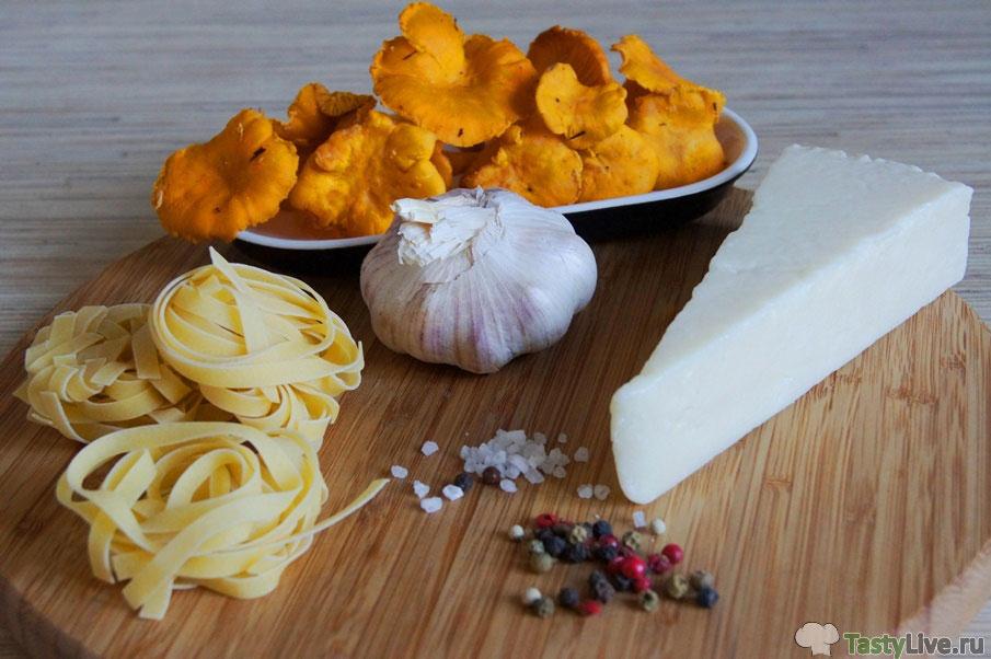 Фото рецепт приготовления пасты с лисичками