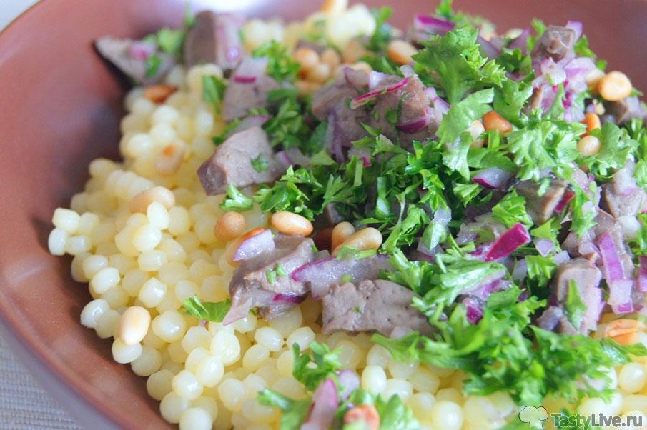 Рецепт приготовления печени индейки с птитим