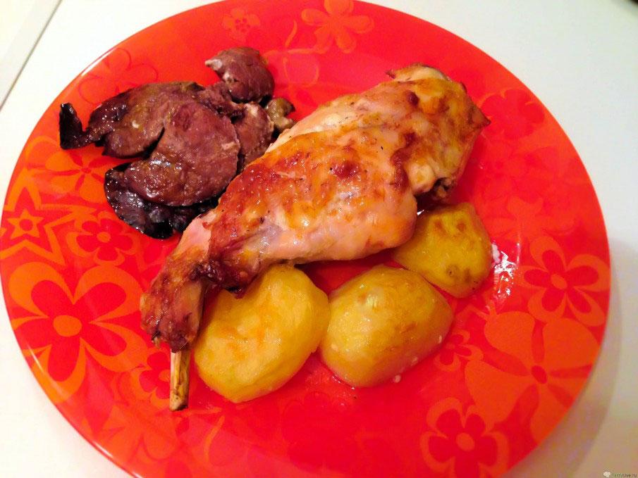 Кролик с картошкой запечённый в духовке, Вкусные рецепты