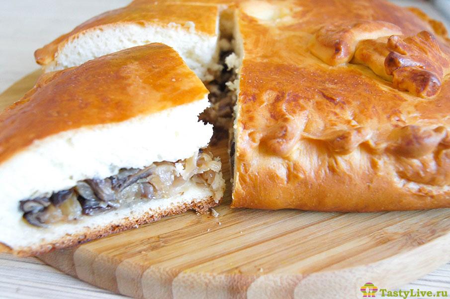 пирог с капустой и грибами. рецепт с фото
