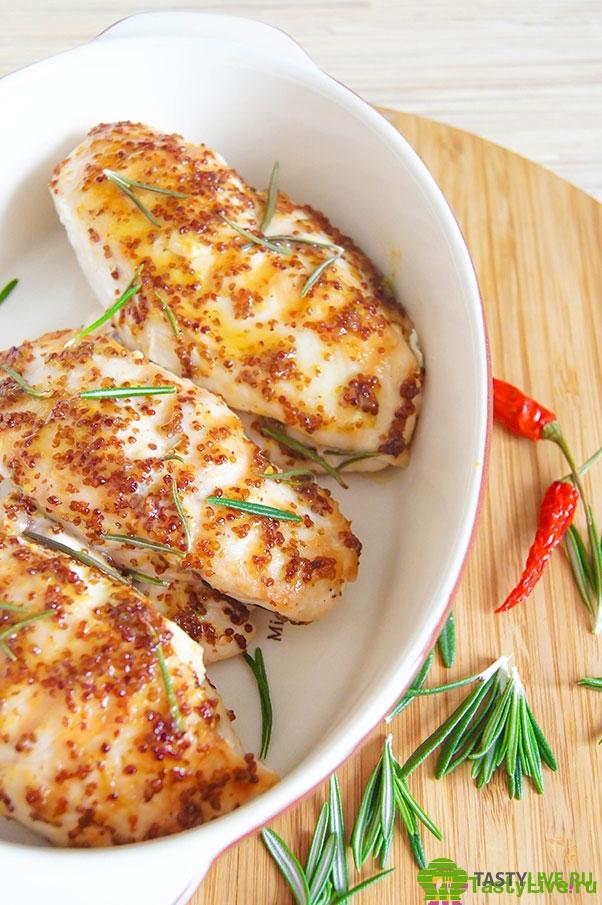 цыпленок с горчицей и медом в духовке