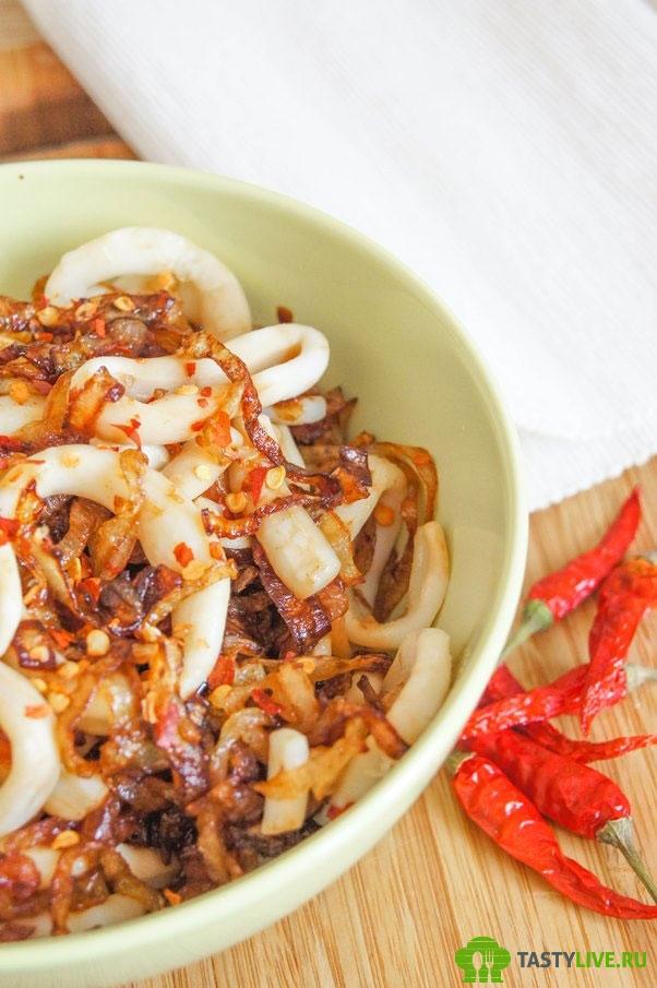 Закуска из кальмара рецепт